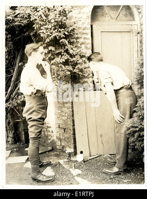 British soldiers in billets [France]. . - Stock Photo