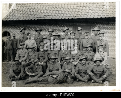 British & Indian officers 9th Gurkhas at their headquarters in France [St Floris]. . - Stock Photo