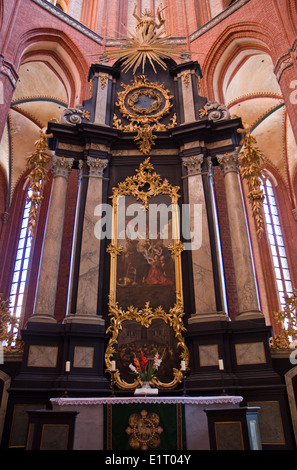 Europe, Germany, Mecklenburg-Western Pomerania, Wismar, St. Nicholas Church,interieur - Stock Photo