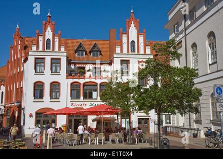 Europa, Deutschland, Mecklenburg-Vorpommern, Wismar, historisches Gebaeude in der Altstadt - Stock Photo