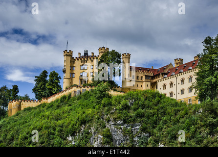 Bavaria, Germany. Schloss Hohenschwangau Castle, 19th-century palace in southern Germany - Stock Photo