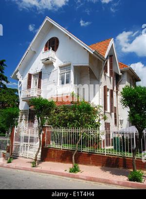 Victorian style house on Buyukada island, Istanbul, Turkey - Stock Photo