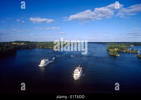 North America, Canada, Ontario, Thousand Islands National Park, St. Lawrence Islands National Park, St. Lawrence - Stock Photo