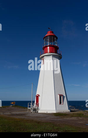 Point Riche Lighthouse Port au Choix National Historic Site on the Great Northern Peninsula on the island Newfoundland - Stock Photo