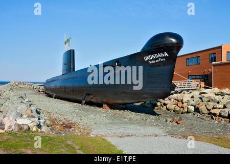 Onondaga Submarine, Pointe-au-Père Maritime Historic Site,  Quebec, Canada - Stock Photo