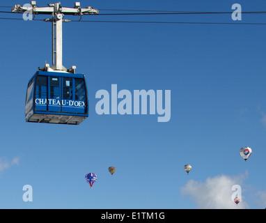 Europe, Switzerland, Vaud Canton, Chateau d'Oex city, Hot Air Balloon International Festival - Stock Photo