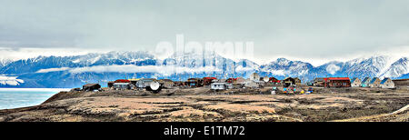 Arctic community, Pond Inlet, Baffin Island, Nunavut, Canada - Stock Photo