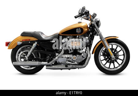 harley davidson cruiser motorcycle cut out yellow and chrome