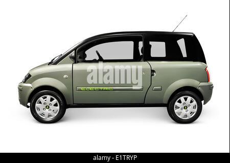 ZENN plugin electric car isolated on white background - Stock Photo