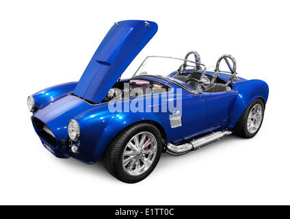 1966 Ford 427 Shelby AC Cobra custom classic sports car. Isolated on white background - Stock Photo
