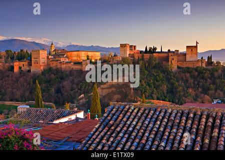 The Alhambra La Alhambra a moorish citadel palace designated a UNESCO World Heritage Site in 1984 City Granada Province - Stock Photo