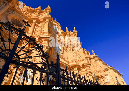Facade of the Cathedral of Guadix in the town of Guadix, Province of Granada, Andalusia (Andalucia), Spain, Europe. - Stock Photo