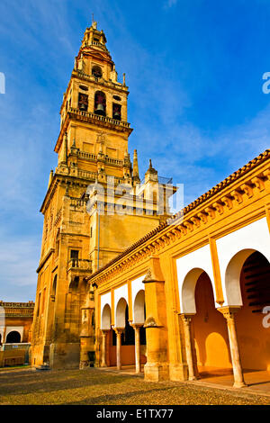 Torre del Alminar bell tower the Mezquita (Cathedral-Mosque) seen the Patio de los Naranjos City Cordoba UNESCO - Stock Photo