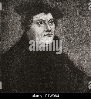 Martin Luther, 1483 – 1546. German monk, Catholic priest and professor of theology - Stock Photo