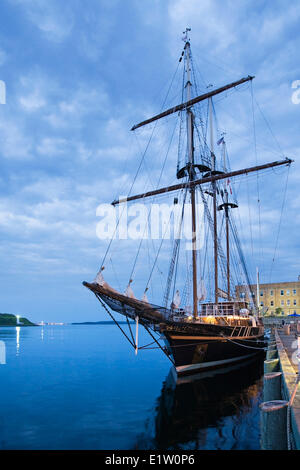Sailing ship Peacemaker moored in Halifax Harbour during the 2012 Tall Ships festival in Halifax, Nova Scotia. - Stock Photo