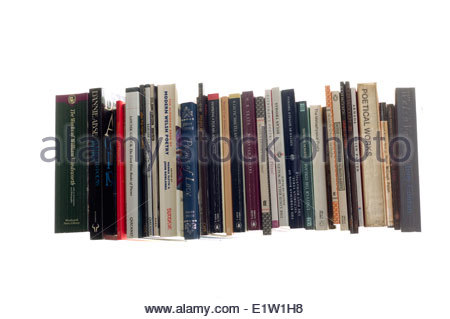 Collection of poetry books - Stock Photo