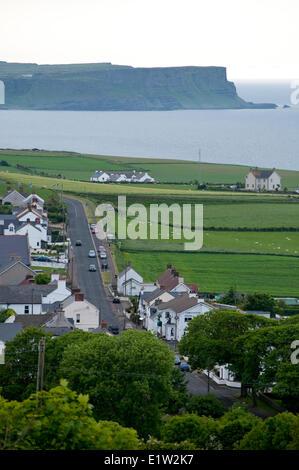 Ballintoy on the Seaside drive, Coast Road, County Antrim, Northern Ireland - Stock Photo