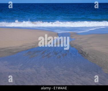 The Water Cycle, Kalalau Beach, Kauai, Hawaii - Stock Photo