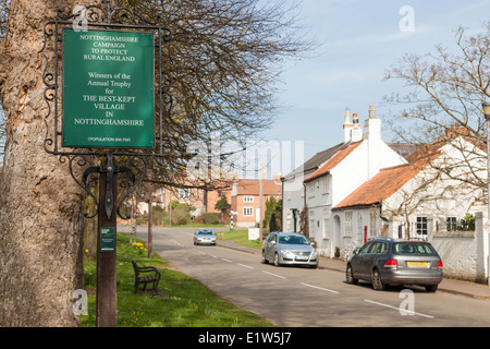 Wysall, Nottinghamshire, UK. Winners of the Best Kept Village Award in Nottinghamshire, awarded by Nottinghamshire - Stock Photo