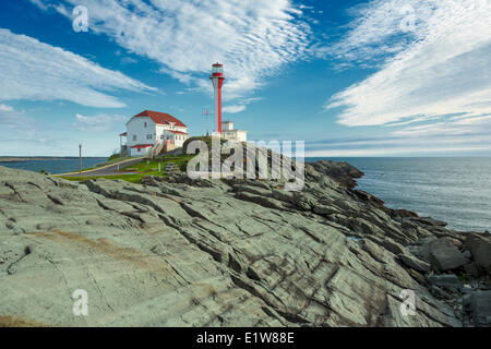 Cape Forchu Lighthouse, Nova Scotia, Canada - Stock Photo