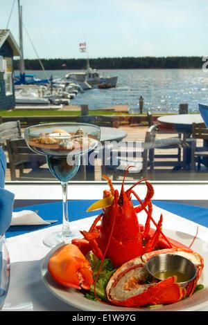 Lobster plate, Boat Shop steak & Seafood Restaurant, Alberton, Prince Edward Island, Canada - Stock Photo