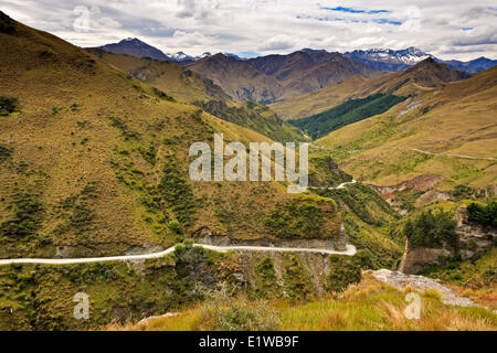 Skippers Canyon near Queenstown, Central Otago, South Island, New Zealand. - Stock Photo
