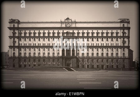 FSB (former KGB) headquarters building in Moscow, Russia - Stock Photo
