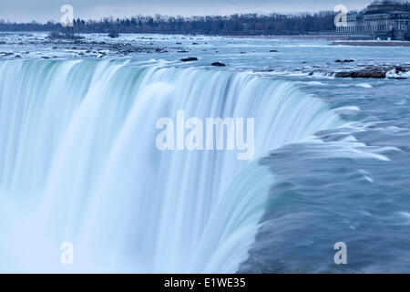 The brink of the Canadian Horseshoe Falls, Niagara Falls, Ontario, Canada - Stock Photo