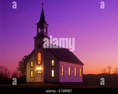 Catholic church, St Genevieve, Manitoba, Canada - Stock Photo