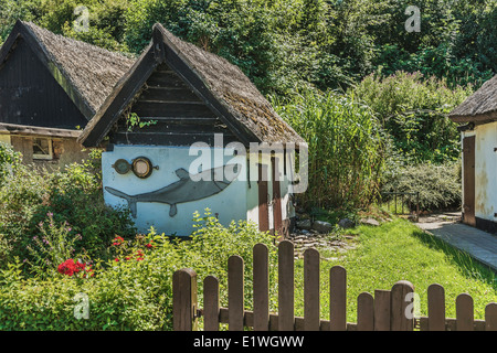 Old shed in the fishing village of Vitt, Putgarten, Wittow Ruegen Island, Mecklenburg-Western Pomerania, Germany, - Stock Photo