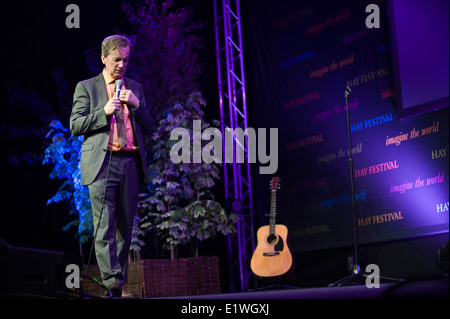 Stand up comedian Frank Skinner performing his one man show at Hay Festival 2014 ©Jeff Morgan - Stock Photo
