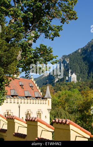 Hohenschwangau Castle or Schloss Hohenschwangau a 19th-century palace in southern Bavaria Germany. Neuschwanstein - Stock Photo