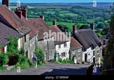 Gold Hill, Shaftsbury, Dorset, England. - Stock Photo