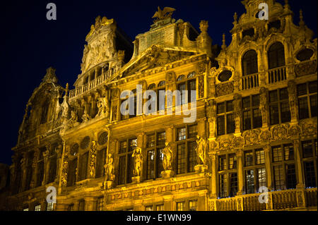 Guild houses on Grand Palace - Stock Photo