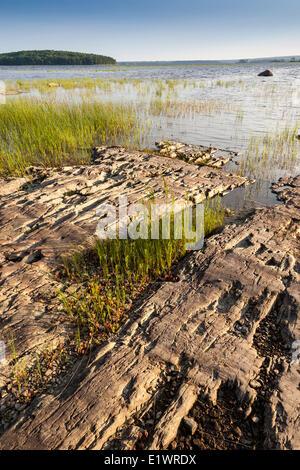 The shores of Kejimkujik Lake in Kejimkujik National Park, Nova Scotia; Canada - Stock Photo