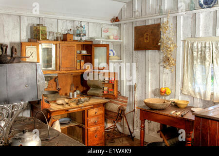 Moss Cottage, Sooke BC, Sooke Region Museum, Vancouver Island, late 19th century period early 20th century, Baker's - Stock Photo