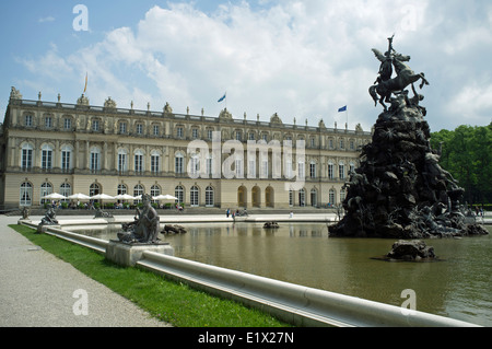 Herrenchiemsee Royal Palace, Herreninsel, Chiemsee, Bavaria, Germany. - Stock Photo