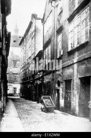 Jewish quarter of Prague, former Jewish ghetto of the Old town. c. 1920. Austria-Hungary