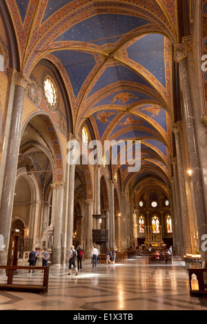 The interior of Santa Maria Sopra Minerva Church, Rome Italy Europe - Stock Photo