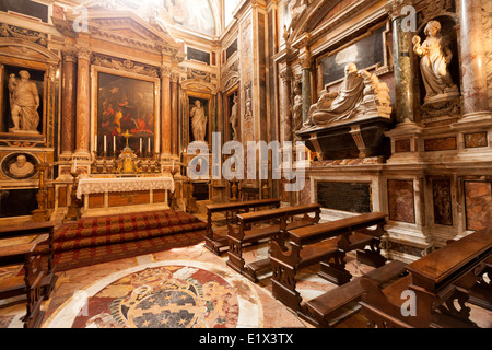 Cappella Aldobrandini, or Aldobrandini Chapel, interior of Santa Maria Sopra Minerva Church, Rome Italy Europe - Stock Photo