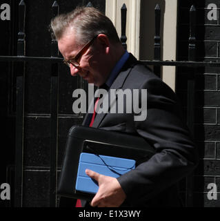 London, UK, 10th June 2014. Michael Gove Secretary of State for Education seen leaving 10 Downing street in London, - Stock Photo
