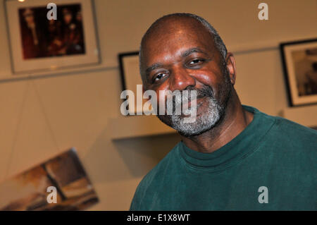 Madrid, Spain. 10th June, 2014. The American artist Kerry James Marshall exposes simultaneously at the  Tàpies  - Stock Photo