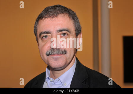 Madrid, Spain. 10th June, 2014. Villel  director of  Reina Sofía Museum (MNCARS) attends  the Kerry James Marshall - Stock Photo