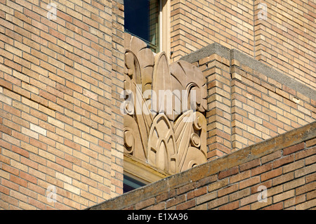 Art Deco design on the Bellingham Towers building, Bellingham, Washington state, USA - Stock Photo