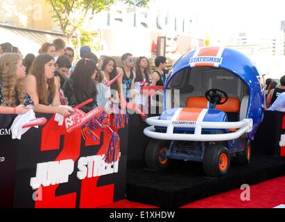 Los Angeles, California, USA. 10th June, 2014. Almosphere at arrivals for 22 JUMP STREET Premiere, The Regency Village - Stock Photo