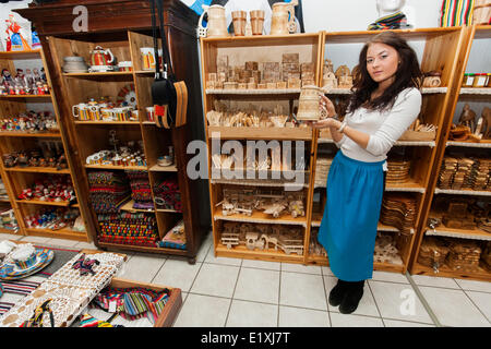 A young woman in the gift shop, National Archives, Washington DC ...