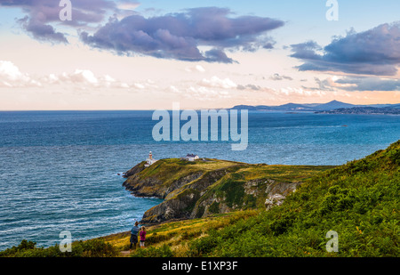 Ireland, Dublin county, the Dublin bay seen from the Howth headland