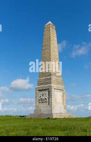 Yarborough Monument Isle of Wight on Culver Down east of the island - Stock Photo