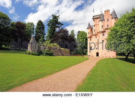Cragievar Castle in Aberdeenshire - Stock Photo