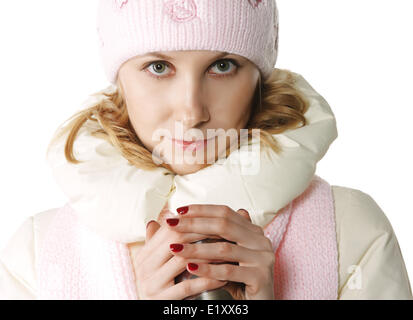 Hot drink in a cold weather - Stock Photo